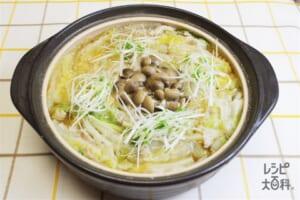 豚バラと白菜の重ね鍋 みそ味