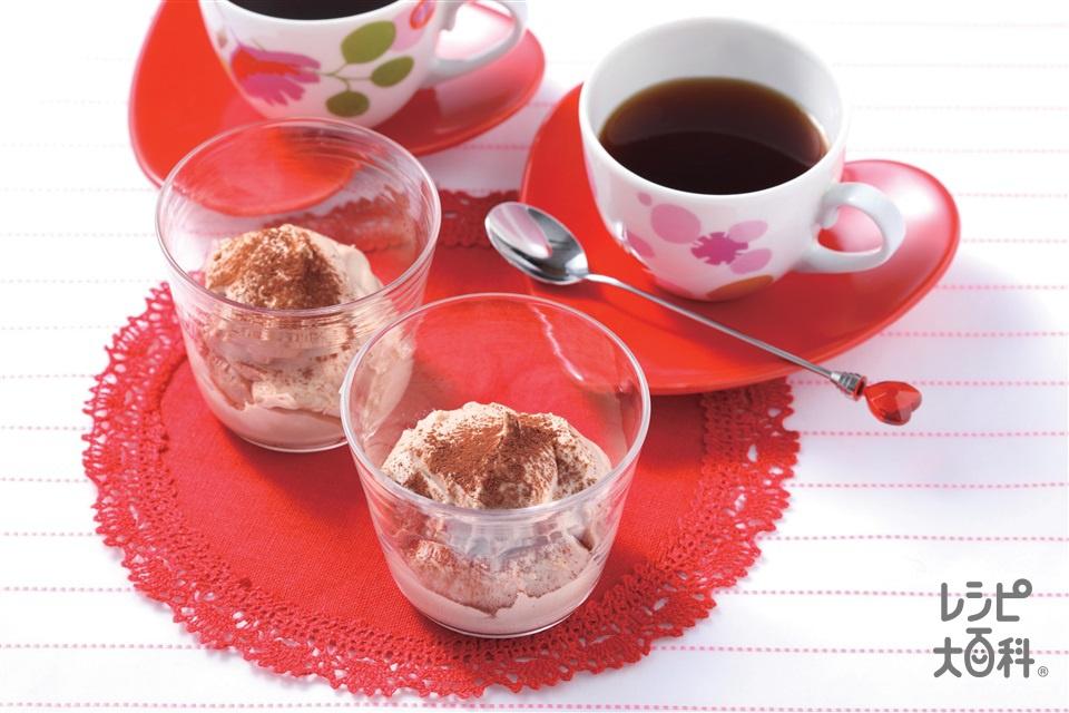 ココアチーズケーキ(クリームチーズ+生クリームを使ったレシピ)