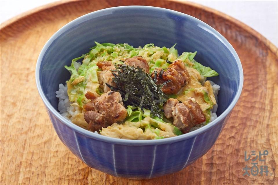 超簡単親子丼(温かいご飯を使ったレシピ)