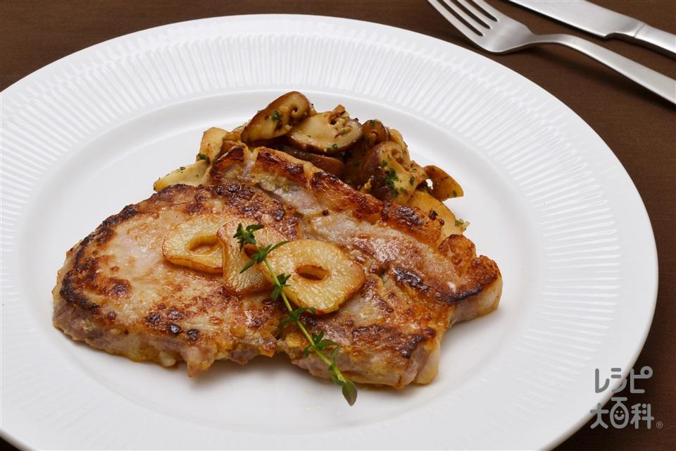 豚肉の塩麹ステーキ(豚肩ロース肉+エリンギを使ったレシピ)