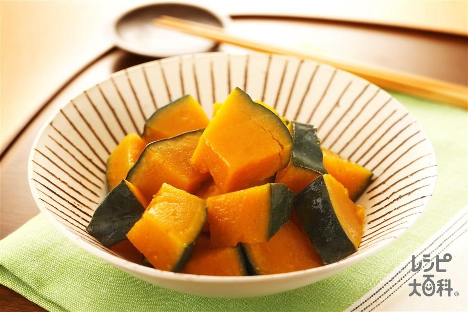 かぼちゃの煮物(かぼちゃ+「ほんだし 煮物上手」を使ったレシピ)