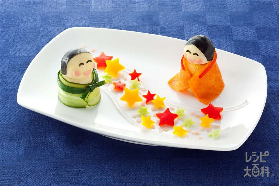 七夕「ピュアデコポテトサラダ」(じゃがいも+溶き卵を使ったレシピ)