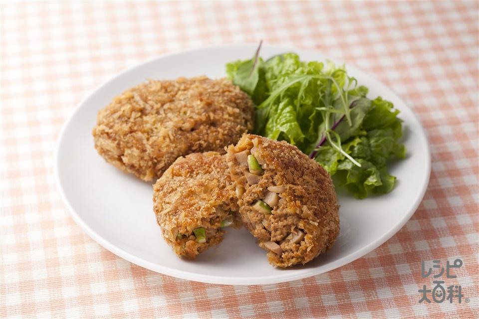 春野菜のトマトメンチカツ(牛ひき肉+玉ねぎを使ったレシピ)