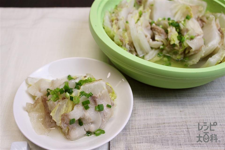 白菜と豚バラの重ね蒸し(白菜+豚バラ薄切り肉を使ったレシピ)