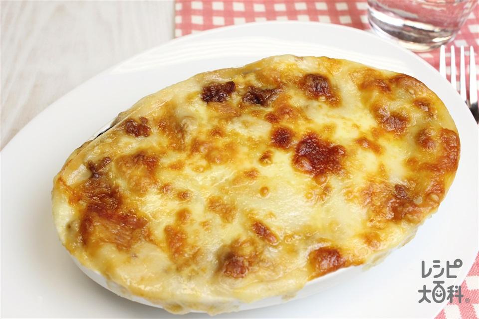 簡単中華風ラザニア(豚ひき肉+ピザ用チーズを使ったレシピ)
