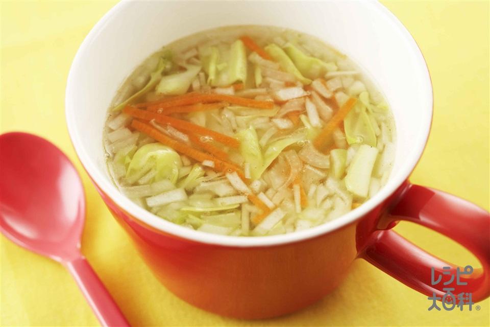 レンチンキャベツスープ(キャベツ+玉ねぎを使ったレシピ)