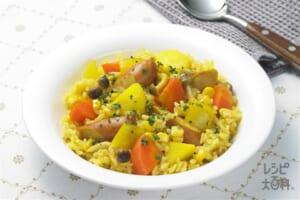 ナイス リメイク!カレー風味の炊き込みライス(米+パセリのみじん切りを使ったレシピ)
