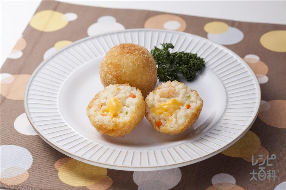 ライスコロッケ(牛乳+ピザ用チーズを使ったレシピ)