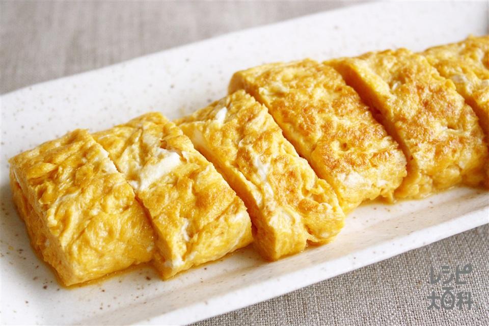 たまご焼き しょうゆ味(卵+「味の素」70g瓶を使ったレシピ)