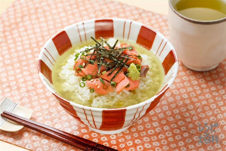 味つけは「こんぶだし」だけ お手軽お茶漬け(ご飯+焼きさけを使ったレシピ)