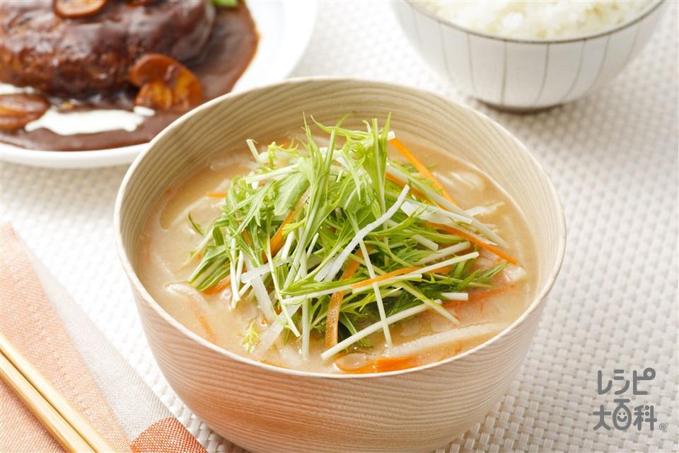 サラダスープ(大根+にんじんを使ったレシピ)