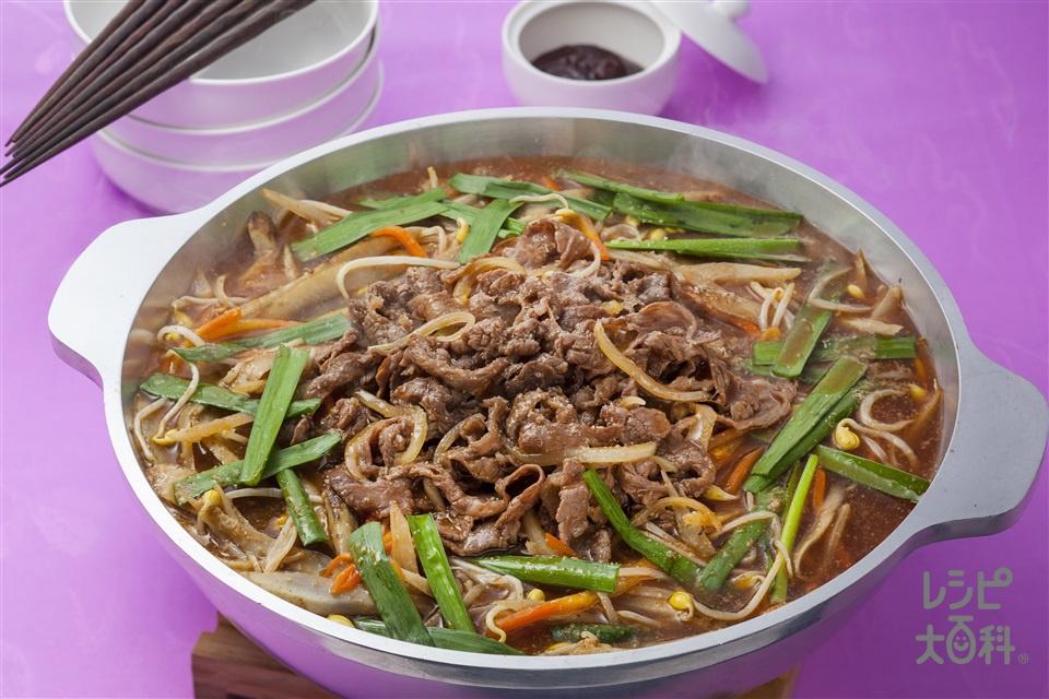 韓国風牛肉の鍋