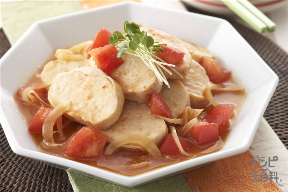 塩鶏の中華風マリネ(トマト+玉ねぎを使ったレシピ)