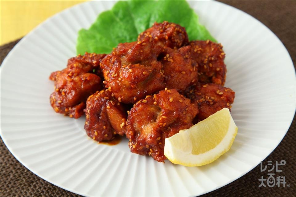 ヤンニョムチキン(鶏のから揚げ甘辛ソースあえ)(鶏もも肉を使ったレシピ)