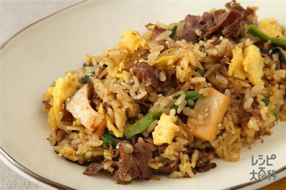 プルコギチャーハン(ご飯+牛切り落とし肉を使ったレシピ)