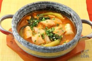 チャムチチゲ(ツナのチゲ)(木綿豆腐+チンゲン菜を使ったレシピ)