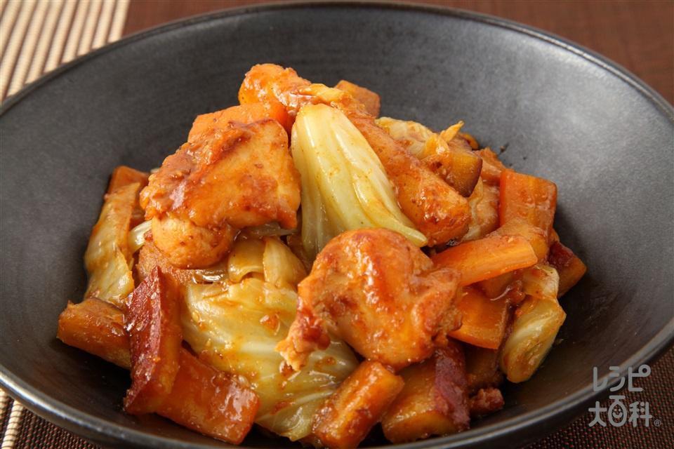 タッカルビ(鶏カルビ)(鶏もも肉+ご飯を使ったレシピ)