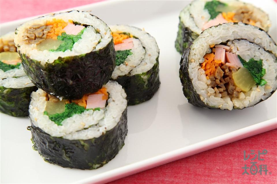 キムパ(韓国のり巻き)(ご飯+ほうれん草を使ったレシピ)
