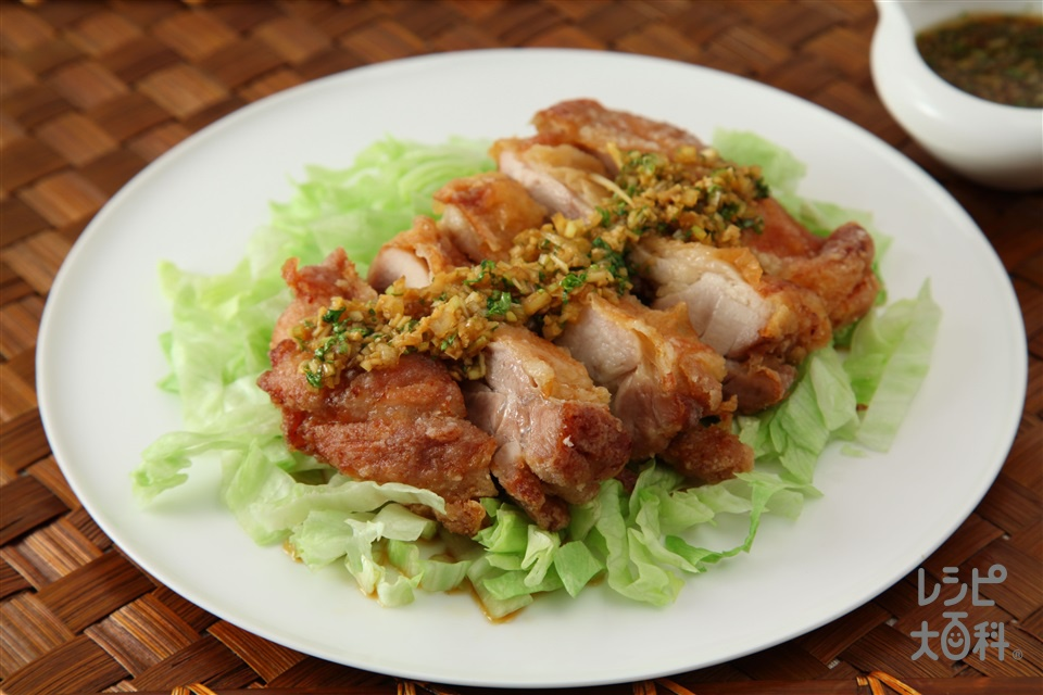 油淋鶏(鶏もも肉+ねぎのみじん切りを使ったレシピ)