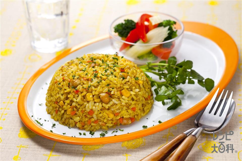 炊飯器ドライカレー(米+合いびき肉を使ったレシピ)