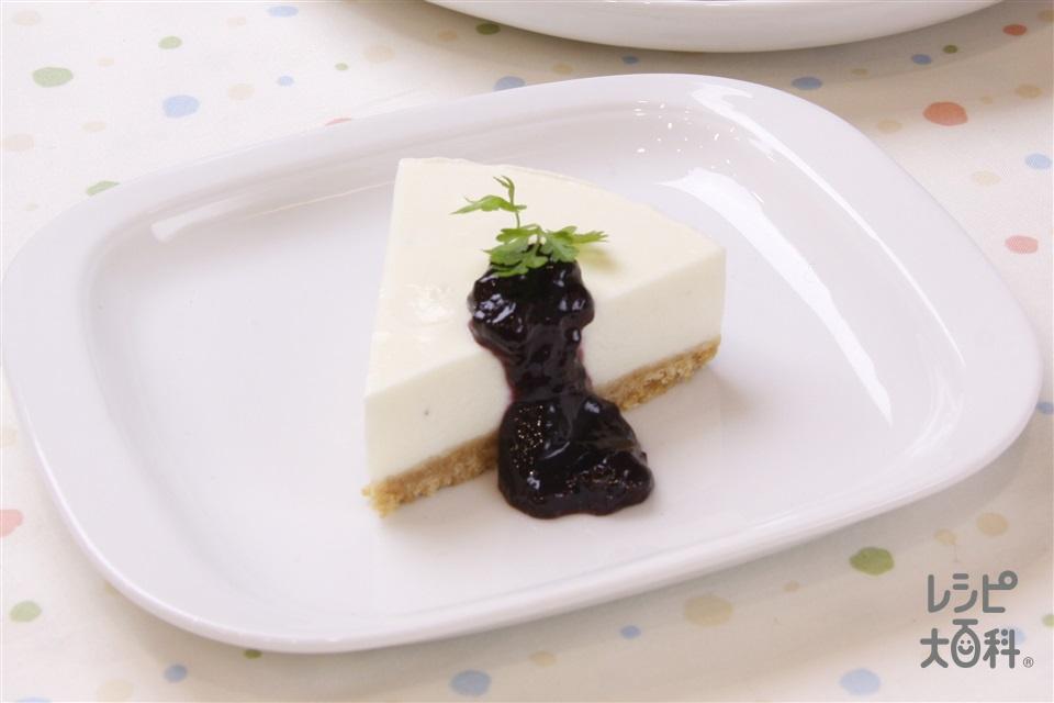 じゃがいものレアチーズケーキ(クリームチーズ+砂糖を使ったレシピ)