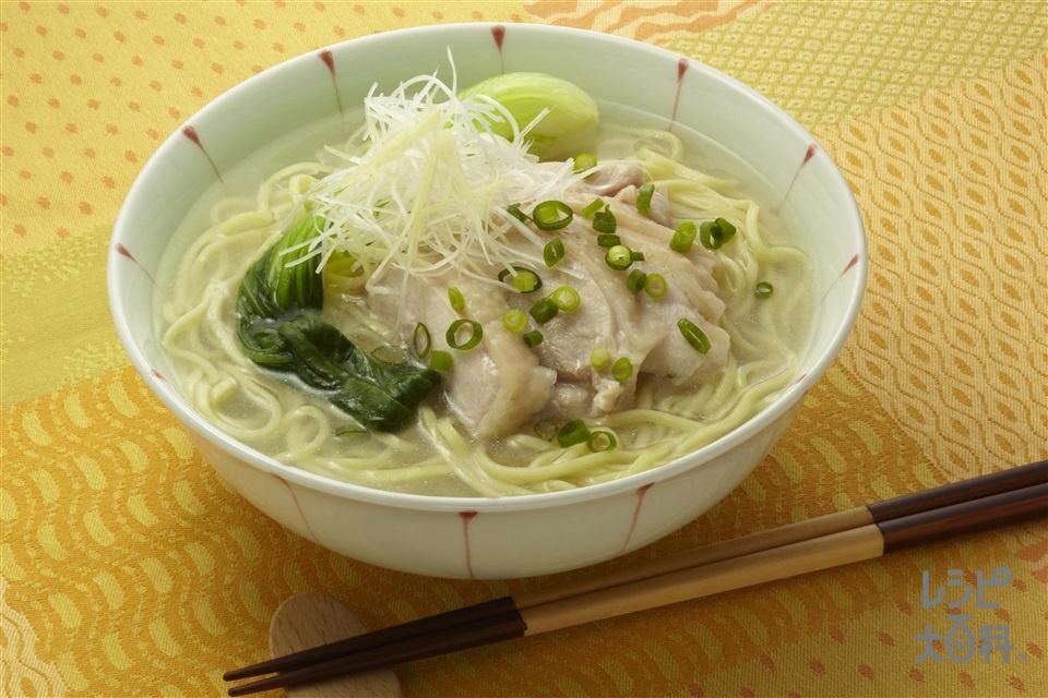 鶏そば(中華めん+鶏もも肉を使ったレシピ)