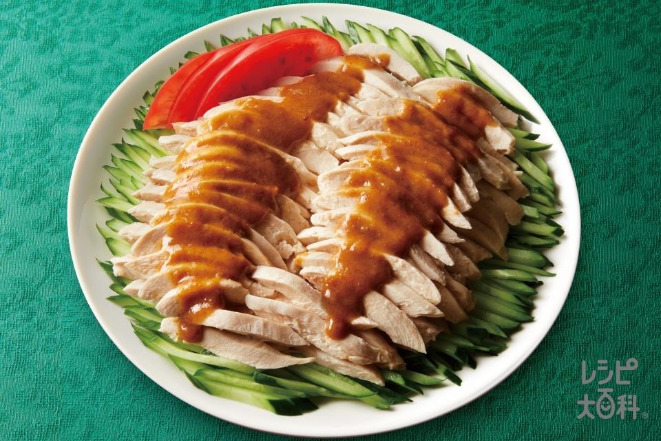 棒棒鶏(鶏もも肉+きゅうりを使ったレシピ)