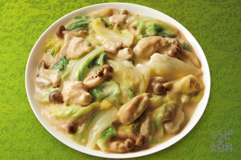 白菜のクリーム煮(白菜+鶏もも肉を使ったレシピ)