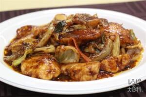 鶏むね回鍋肉(カット野菜使用)(鶏むね肉+袋入りカット野菜(キャベツミックス)を使ったレシピ)