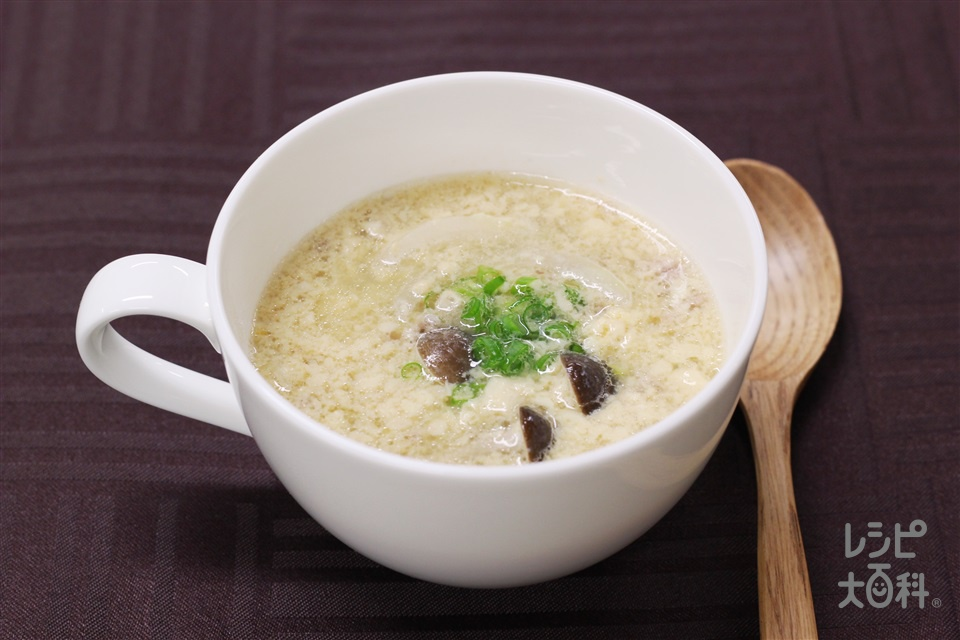 中華風茶碗蒸しスープ(卵+合いびき肉を使ったレシピ)