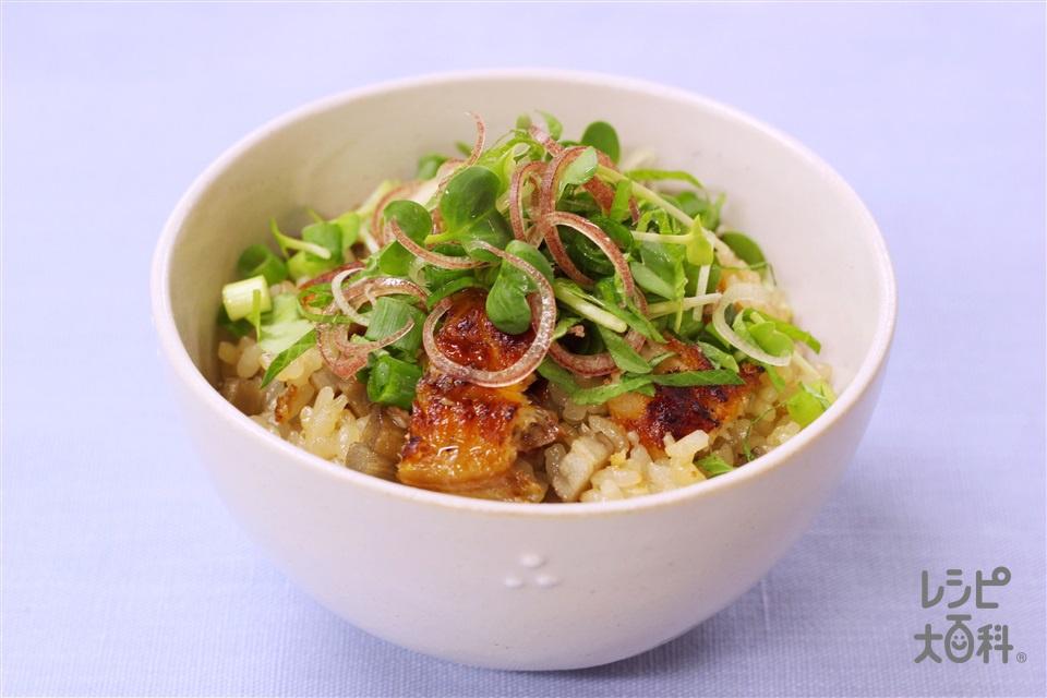 ひつまむし風炊き込みご飯(米+うなぎのかば焼きを使ったレシピ)