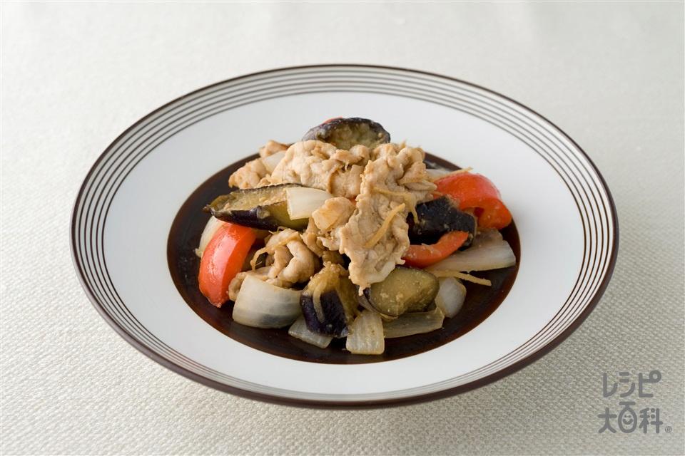 豚肉となすの味噌炒め(豚もも薄切り肉+なすを使ったレシピ)