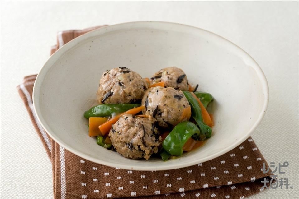 ひじき入り肉団子甘酢煮(合いびき肉+干しひじきを使ったレシピ)