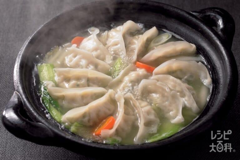 丸鶏餃子鍋