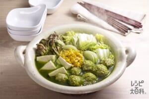 翡翠鍋(白菜+木綿豆腐を使ったレシピ)
