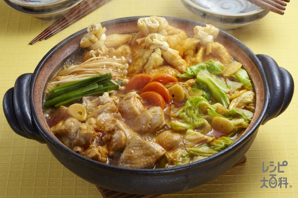 ピリ辛鶏キャベツ鍋(鶏もも肉+キャベツを使ったレシピ)