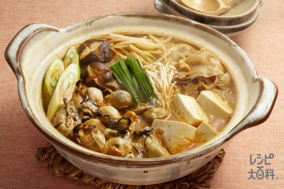 うま辛かき鍋(かき(むき身)+木綿豆腐を使ったレシピ)