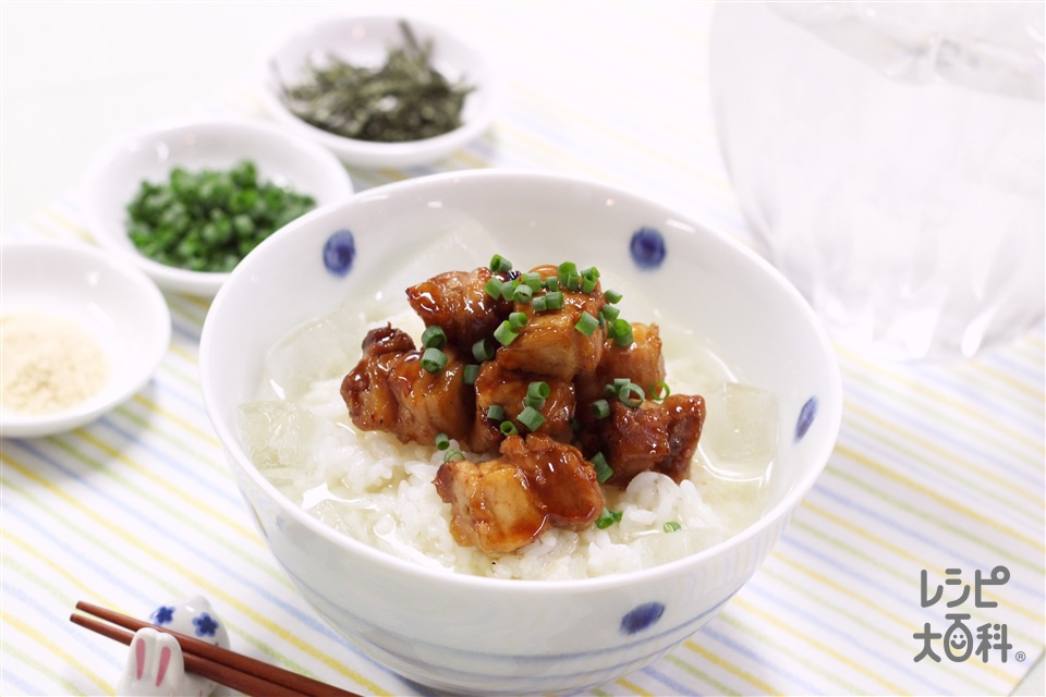 焼き鳥冷やしだし茶漬け(ご飯+焼き鳥を使ったレシピ)