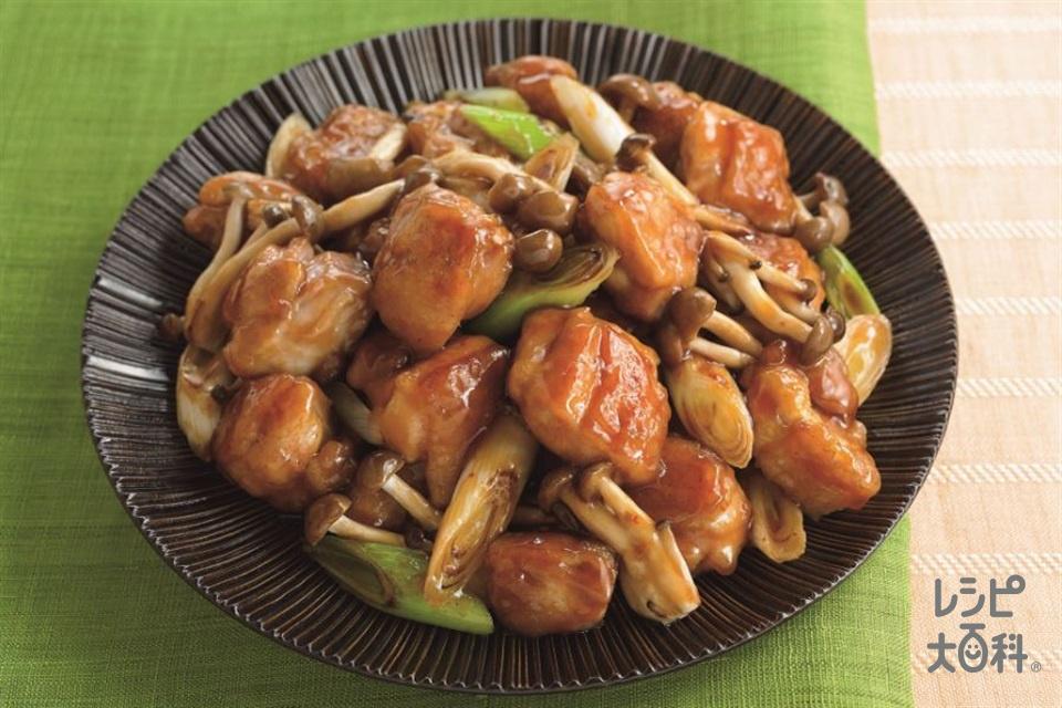 ガリバタ鶏(鶏もも肉+長ねぎを使ったレシピ)