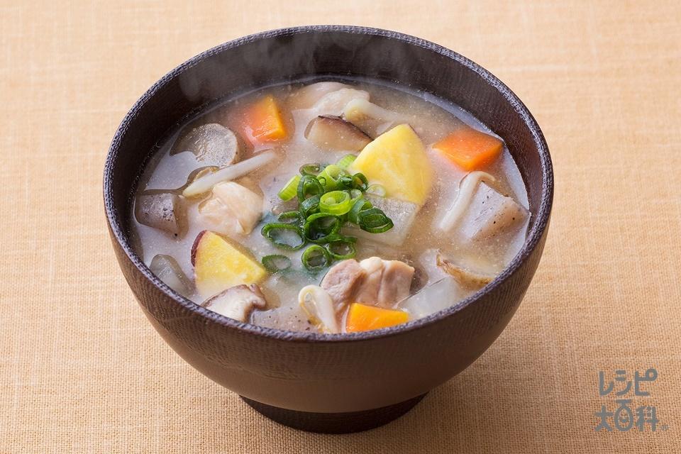 さつま汁風みそ汁(鶏もも肉+大根を使ったレシピ)