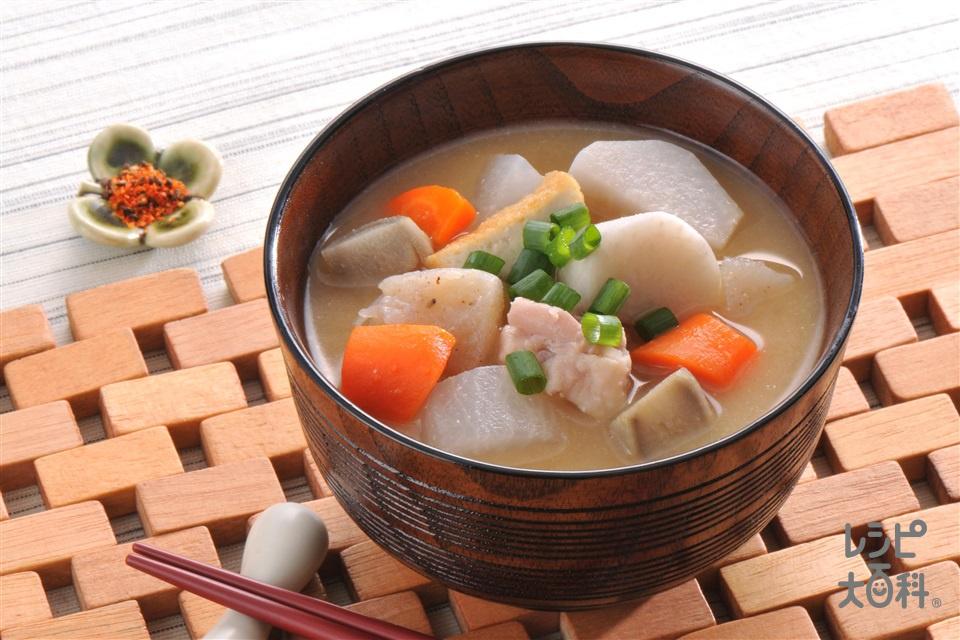 具だくさん京いも汁(京いも+鶏もも肉を使ったレシピ)