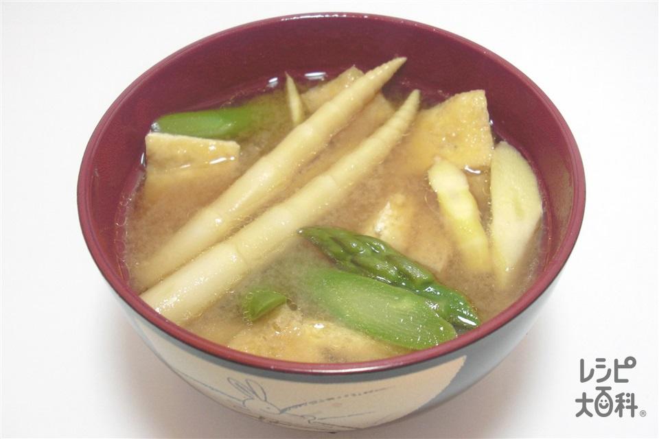 竿灯汁~秋田~(細たけ+グリーンアスパラガスを使ったレシピ)