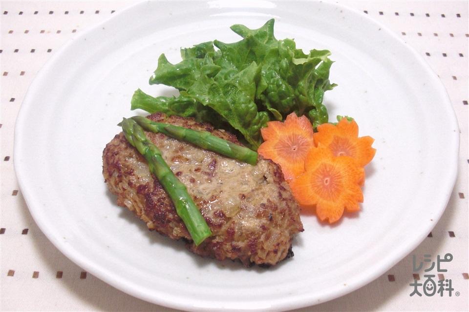わらじ祭りハンバーグ~福島~(合いびき肉+玉ねぎのみじん切りを使ったレシピ)