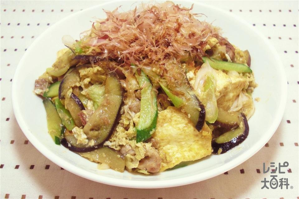 花笠チャンプルー~山形~(豚こま切れ肉+木綿豆腐を使ったレシピ)