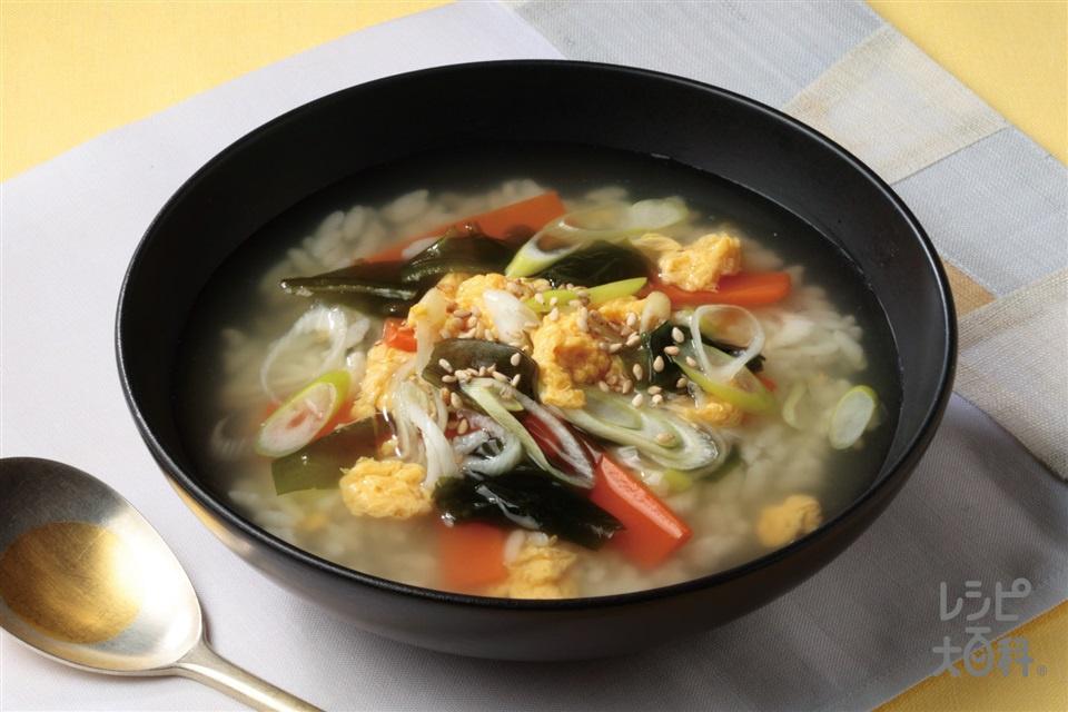 クッパ(ご飯+溶き卵を使ったレシピ)