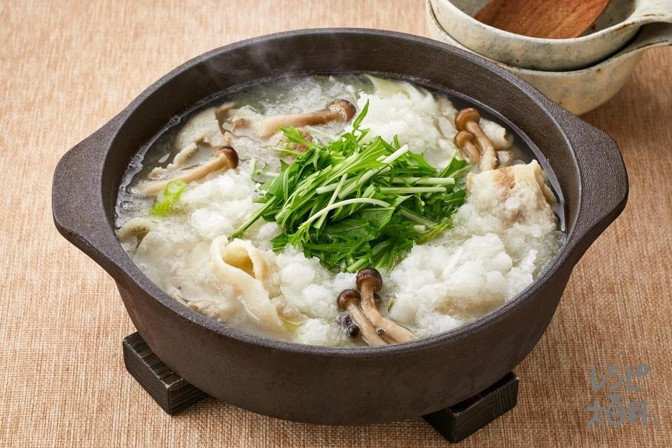 豚みぞれ鍋(豚バラ薄切り肉+大根を使ったレシピ)