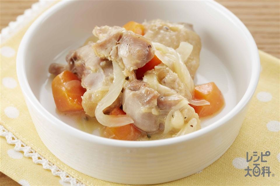 チキンのレモン煮(鶏もも肉+Aにんにくの薄切りを使ったレシピ)