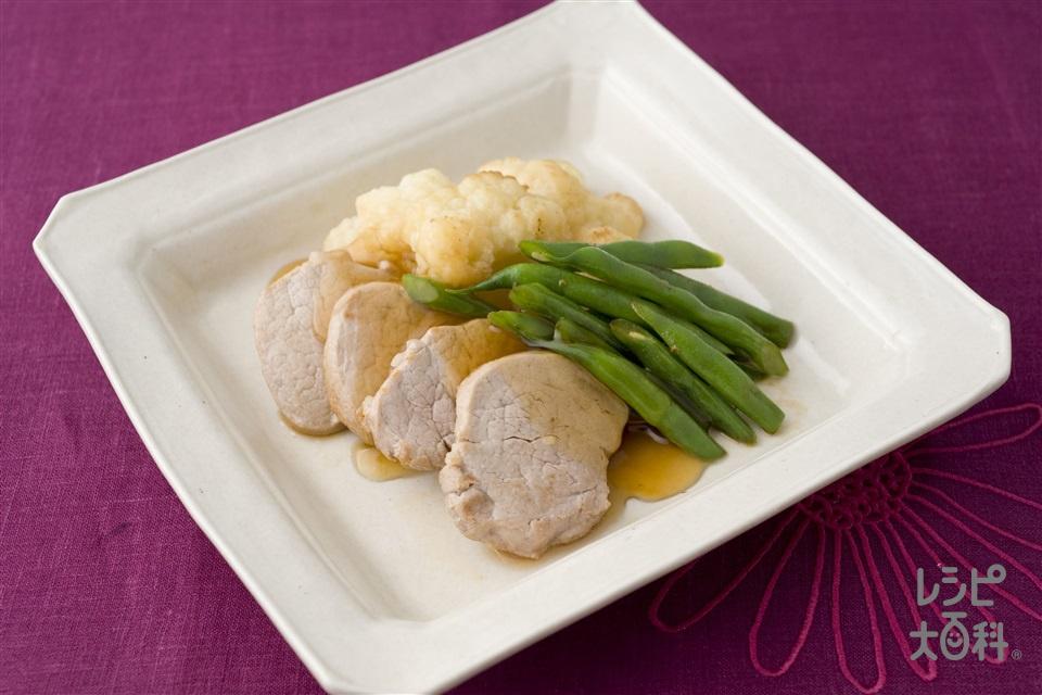 豚ヒレ肉とカリフラワーの炒めもの 黒酢ソース(豚ヒレ肉+しょうがのすりおろしを使ったレシピ)