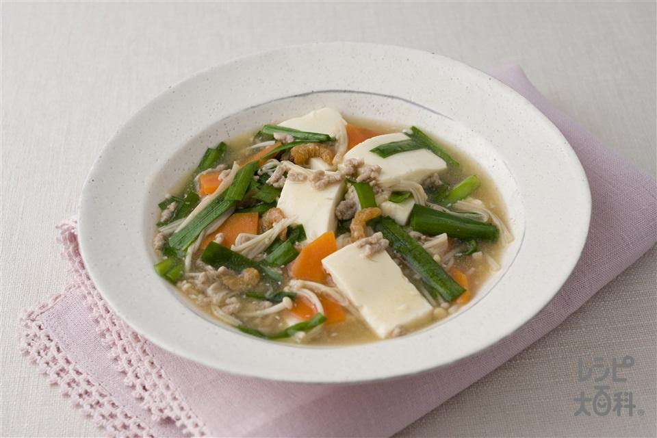 豆腐とにらの中華風煮(絹ごし豆腐+にらを使ったレシピ)