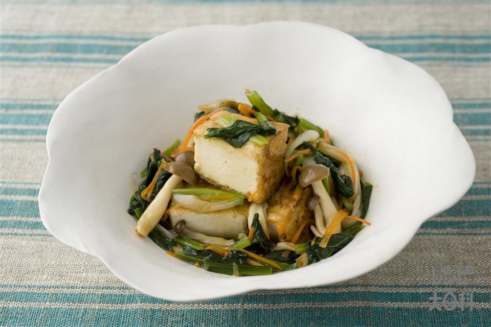 厚揚げのオイスターソースあん(厚揚げ+小松菜を使ったレシピ)